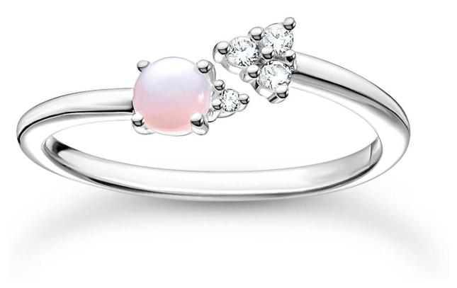 Thomas Sabo Sterling Silver Arrow Opal Ring | Size 56 (UK O 1/2) TR2345-166-7-56