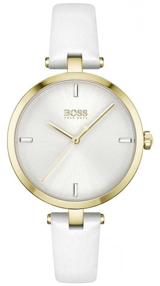 BOSS   Majesty   Women's   White Leather Strap   White Dial   1502588