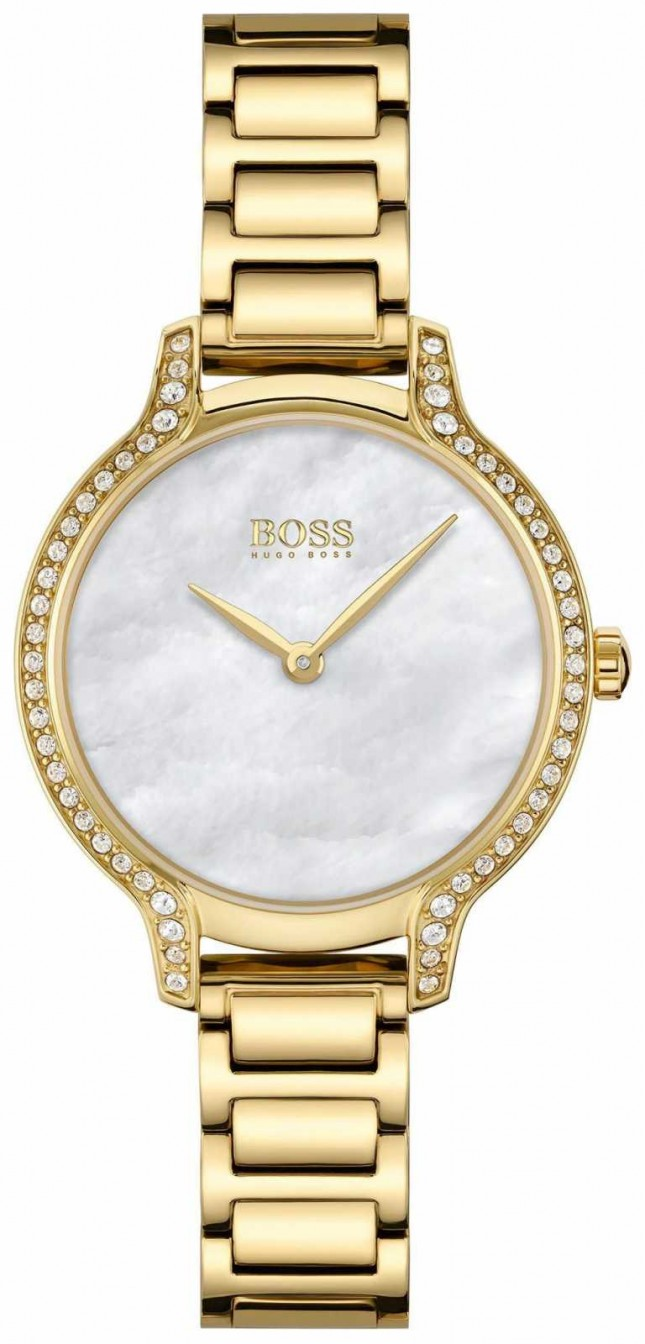 BOSS | Gala | Women's | Gold Plated Bracelet | White Mother Of Pearl Dial | 1502557