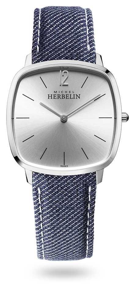 Michel Herbelin City | Silver Dial | Blue Denim Strap 16905/11JN