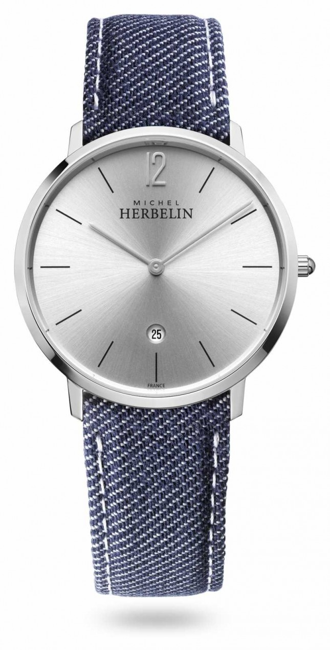 Michel Herbelin City | Denim Strap | Silver Dial 19515/11JN