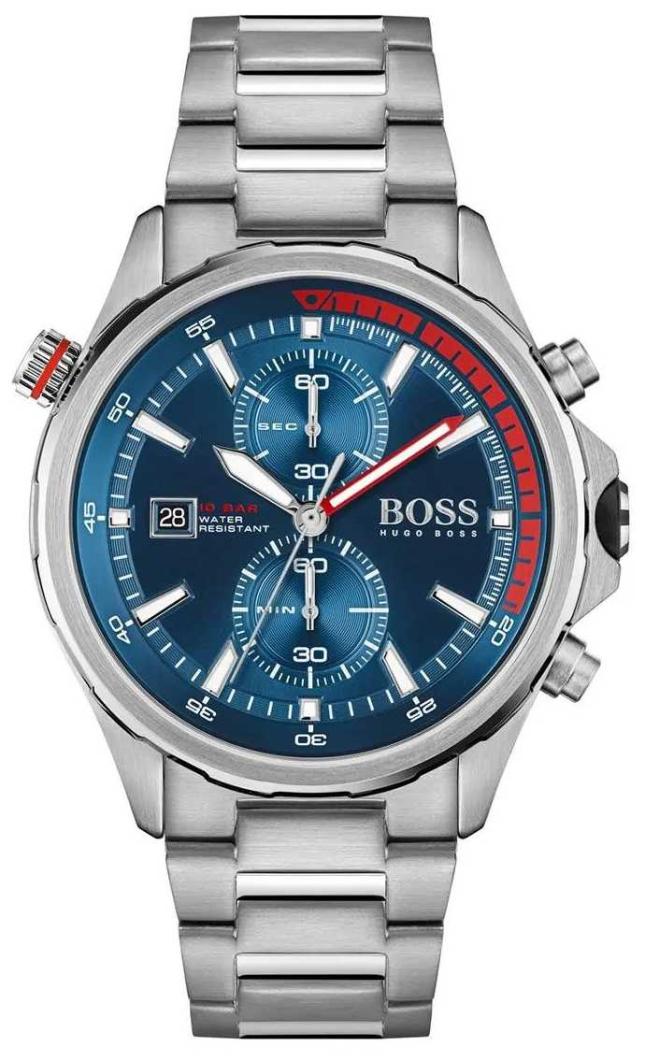 BOSS | Globetrotter | Men's | Stainless Steel Bracelet | Blue Dial | 1513823