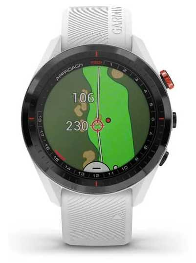 Garmin Approach S62 | Golf | GPS | Ceramic Bezel | White Silicone 010-02200-01