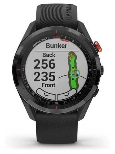 Garmin Approach S62 | Golf GPS | Cermamic Bezel | Black Silicone 010-02200-00
