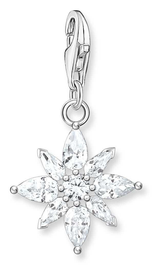 Thomas Sabo Sterling Silver Flower Charm Pendant 1863-051-14