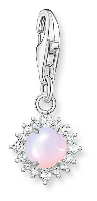 Thomas Sabo Sterling Silver Shimmering Opal Effect Charm Pendant 1866-166-7