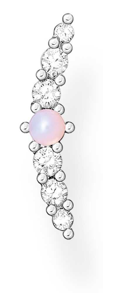 Thomas Sabo Sterling Silver Vintage Single Stud Earring | Pink Opal Effect H2182-166-7
