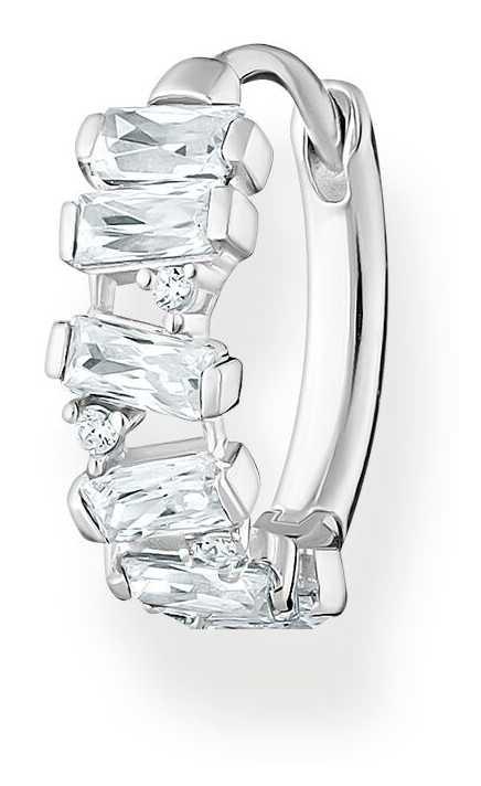 Thomas Sabo Sterling Silver Single Hoop Earring | White Stones CR665-051-14
