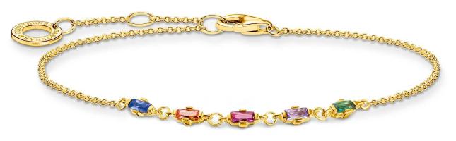 Thomas Sabo Gold Plated Bracelet | Colourful Stones A2024-488-7-L19V