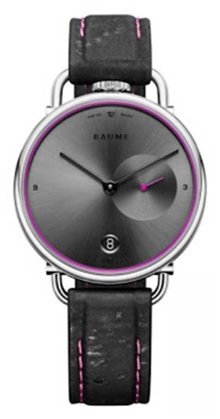 Baume & Mercier BAUME   Eco-Friendly Quartz   Grey Dial   Black Cork Strap M0A10604