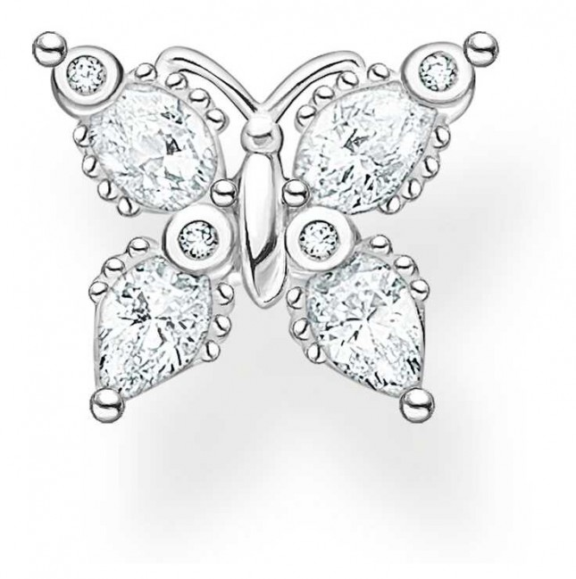 Thomas Sabo Sterling Silver Butterfly Single Stud Earring H2195-051-14