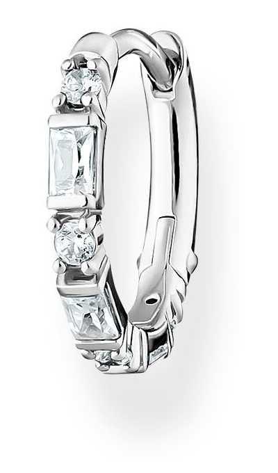 Thomas Sabo Sterling Silver Single Hoop Earring | White Stones CR666-051-14