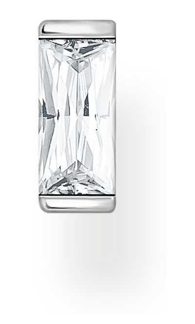 Thomas Sabo Sterling Silver Single Stud Earring | White Baguette Stone H2185-051-14