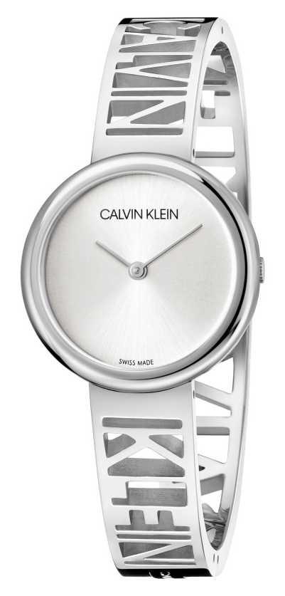 Calvin Klein MANIA   Stainless Steel Bracelet   Silver Dial   Size M KBK2M116