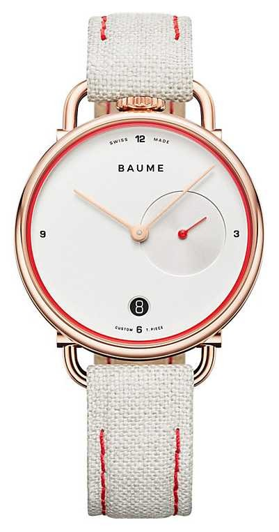 Baume & Mercier BAUME | Eco Friendly Quartz | White Dial | White Cork Backed Strap M0A10602