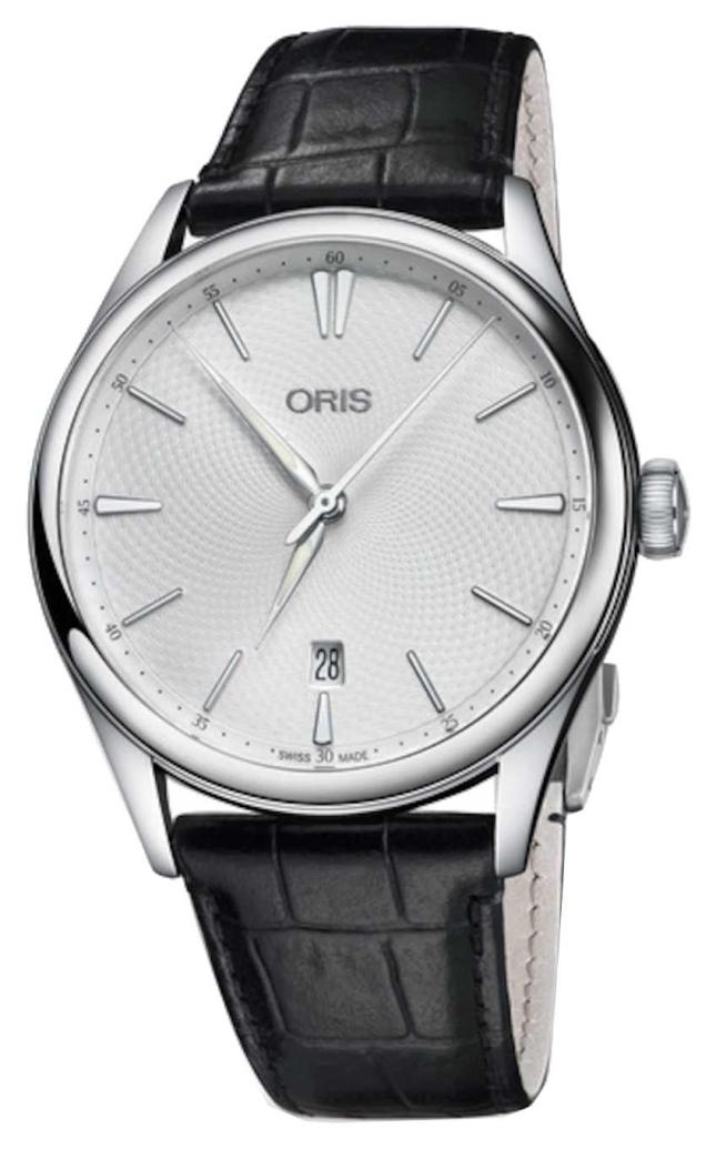 ORIS Men's Artelier Date 40mm Automatic Black Leather Strap 01 733 7721 4051-07 5 21 64FC