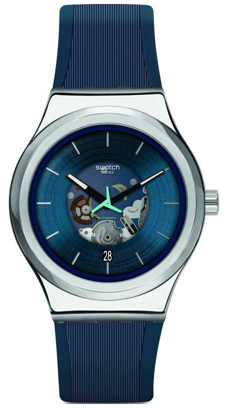 Swatch Men's Blue Blurang Automatic Watch YIS430