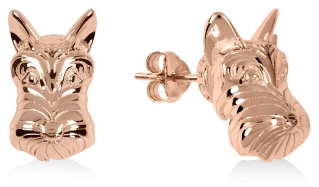 Radley Jewellery Radley & Friends | Rose Gold Plated Scottie Dog Stud Earrings RYJ1172S-CARD