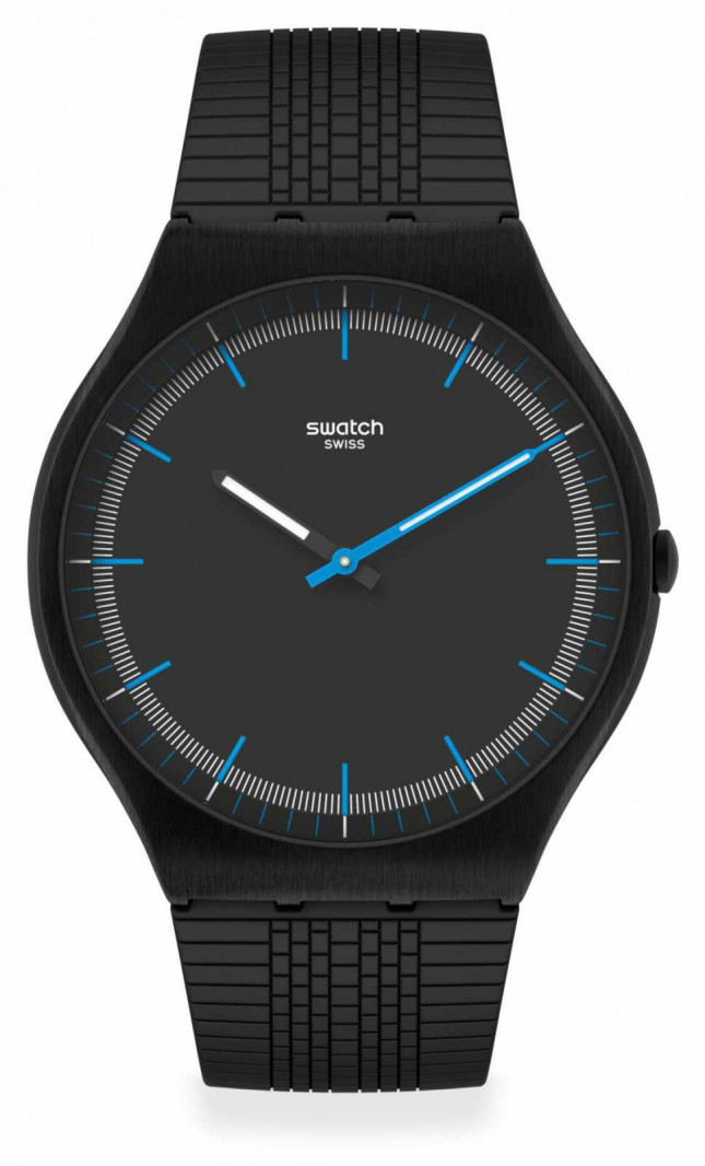 Swatch SUCCESS ROAD   Black Silicone Strap   Black Dial SS07B103