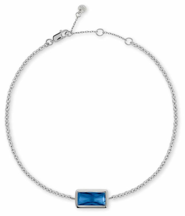 Radley Jewellery Radley Rocks   Sterling Silver Bracelet   Blue Baguette Cut Stone RYJ3097S-CARD