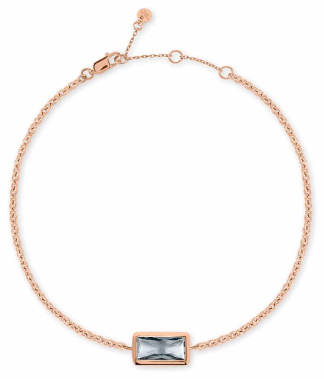 Radley Jewellery Radley Rocks   Rose Gold Plated Bracelet   Grey Stone RYJ3098S-CARD