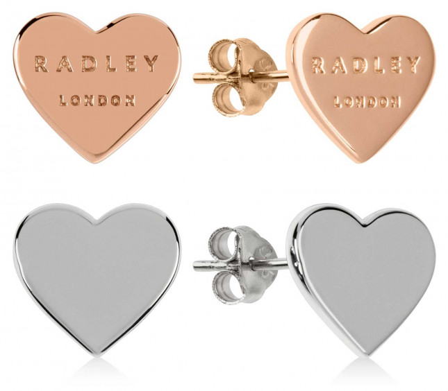 Radley Jewellery Love Letters | Rose Gold And Silver Heart Stud Earrings | Set RYJ1155S-CARD