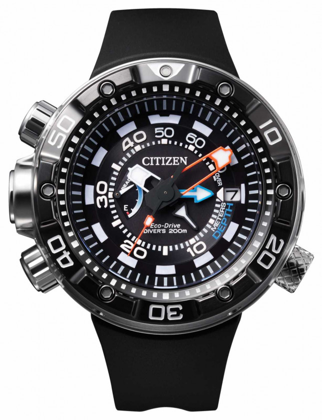 Citizen Mens Promaster Aqualand Depth Meter Eco-Drive Watch BN2029-01E