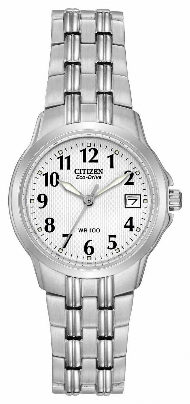 Citizen Ladies Silhouette Sport Eco-Drive Stainless Steel Watch EW1540-54A