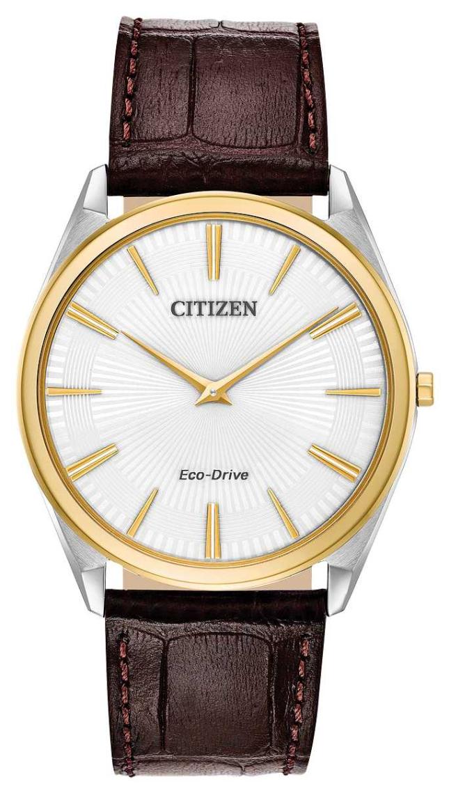 Citizen Stiletto | Men's Eco Drive | Brown Leather Strap | White Dial AR3074-03A