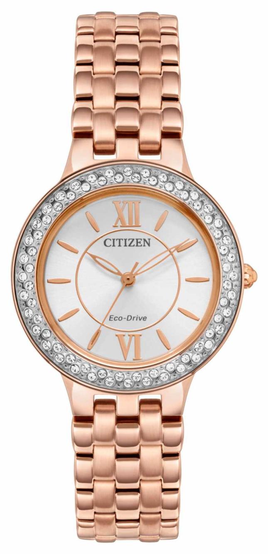 Citizen Women's Eco-Drive Rose Gold Bracelet FE2088-54A
