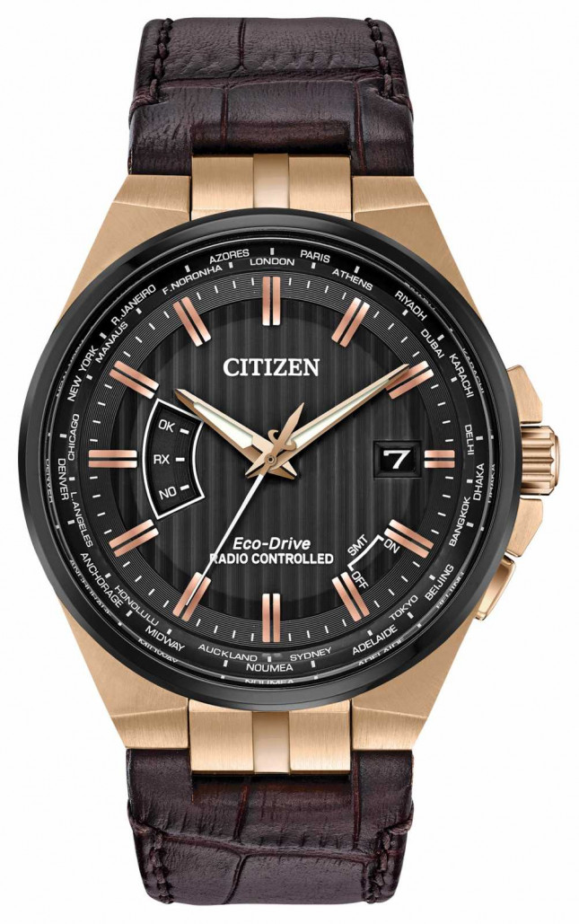 Citizen Men's World Perpetual A-T | Brown Leather Strap CB0168-08E