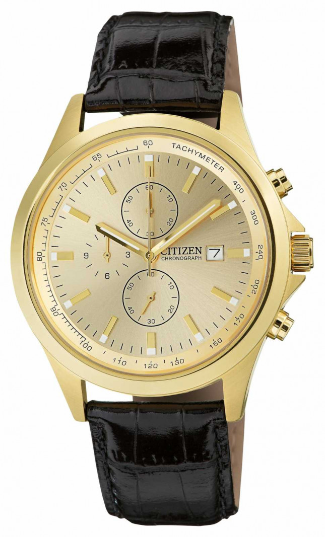 Citizen Gold Plated Quartz Chronograph AN3512-03P