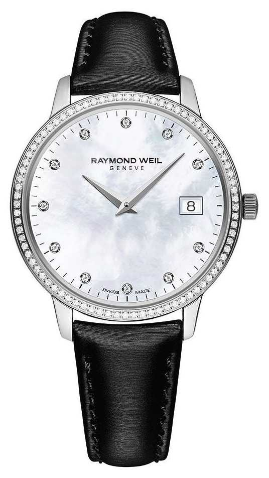 Raymond Weil Toccata | Women's Black Leather Strap | MOP Dial 5388-SLS-97081