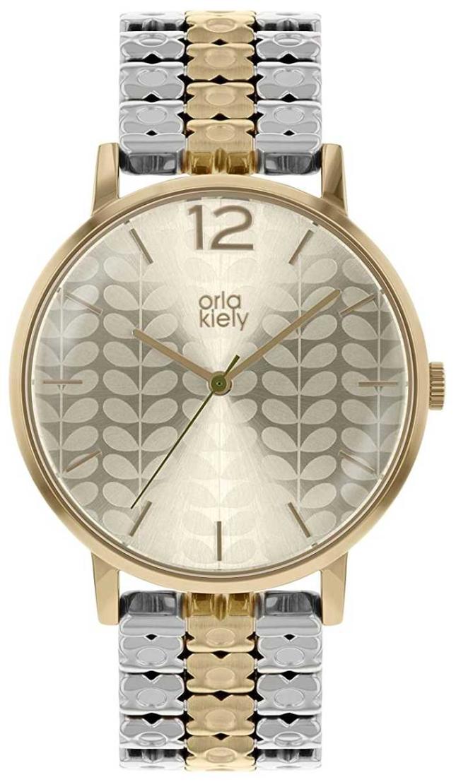 Orla Kiely Women's Two-Tone Steel Bracelet | Silver Dial OK4093