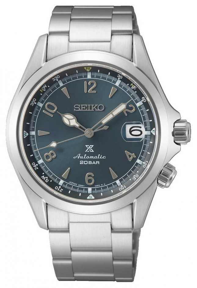 Seiko Men's Alpinist 2021 European Edition | Blue Dial | Stainless Steel Bracelet SPB197J1