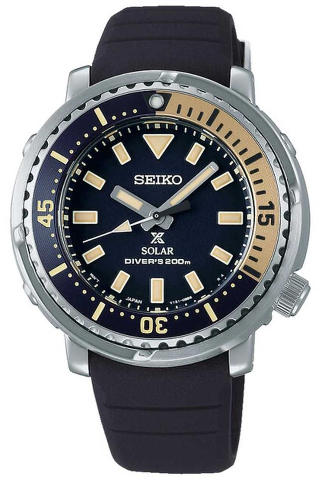 Seiko Prospex | Black Silicone Strap | Black Dial SUT403P1