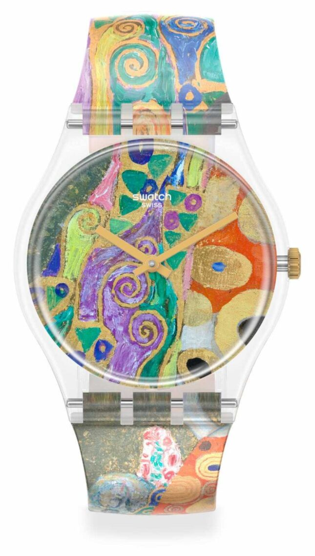 Swatch MoMA | HOPE, II BY GUSTAV KLIMT, THE WATCH | Multi-Coloured Silicone Strap GZ349