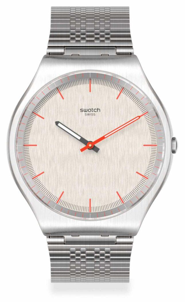 Swatch TIMETRIC   Grey Stainless Steel Bracelet   Grey Dial SS07S113GG