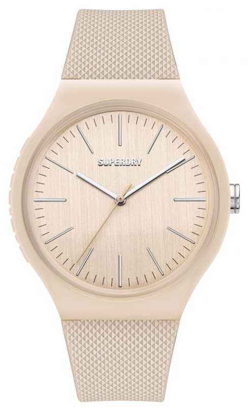 Superdry White Silicone Soft Touch Strap | White Dial SYL344W