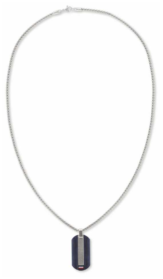 Tommy Hilfiger Men's Stainless Steel Two-Tone Dog Tag Necklace 2790317
