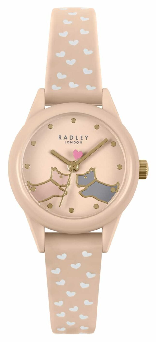 Radley Women's Pink & White Hearts Silicone Strap | Pink Dial RY21258A