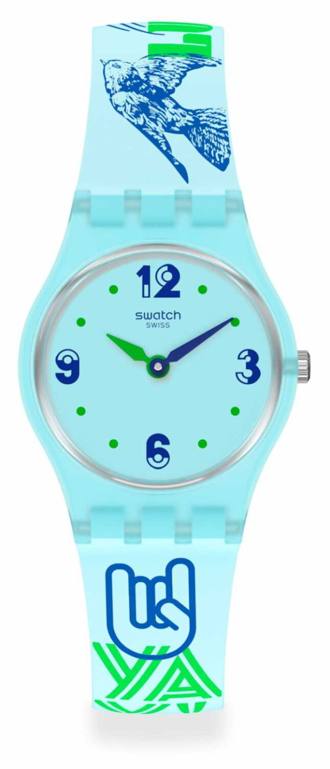 Swatch #GREENTOUCHE | Blue Silicone Strap | Blue Dial LN157