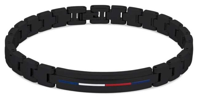 Tommy Hilfiger Men's Iconic ID Bracelet Black Stainless Steel 2790312