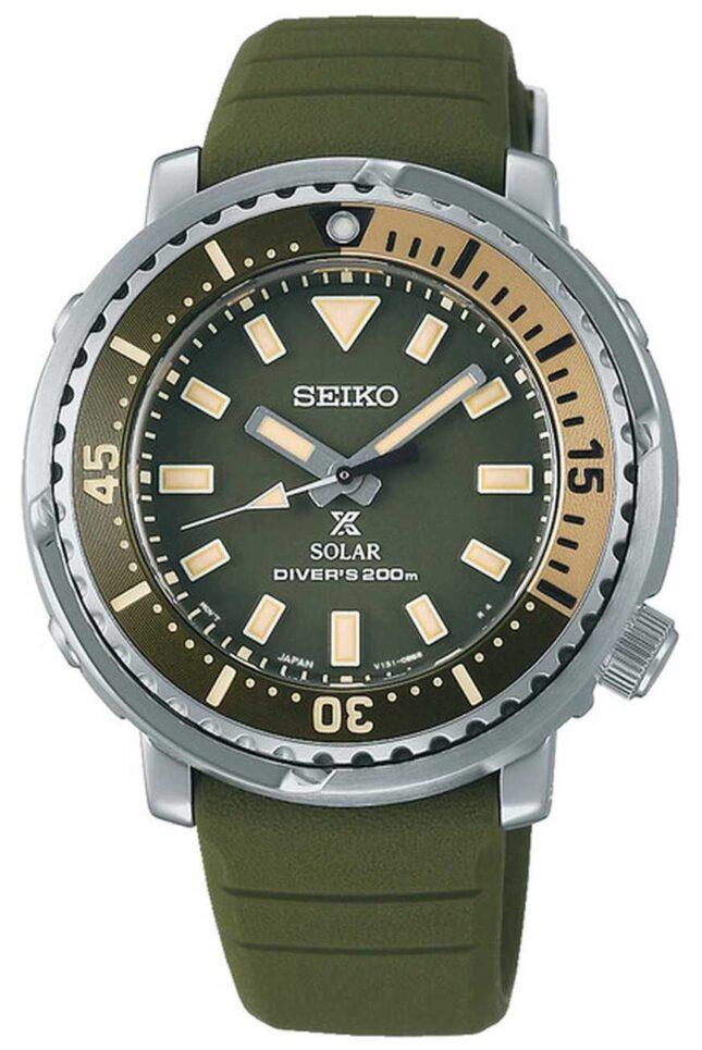 Seiko Prospex | Green Silicone Strap | Green Dial SUT405P1