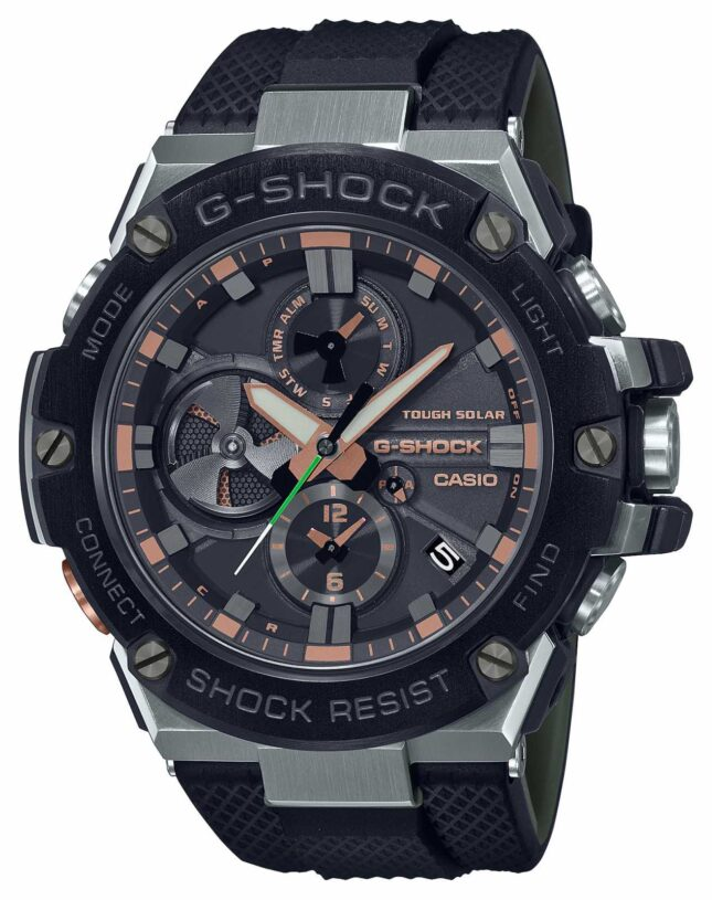 Casio G-Steel Luxury Military | Black Resin Strap | Black Dial | Bluetooth GST-B100GA-1AER