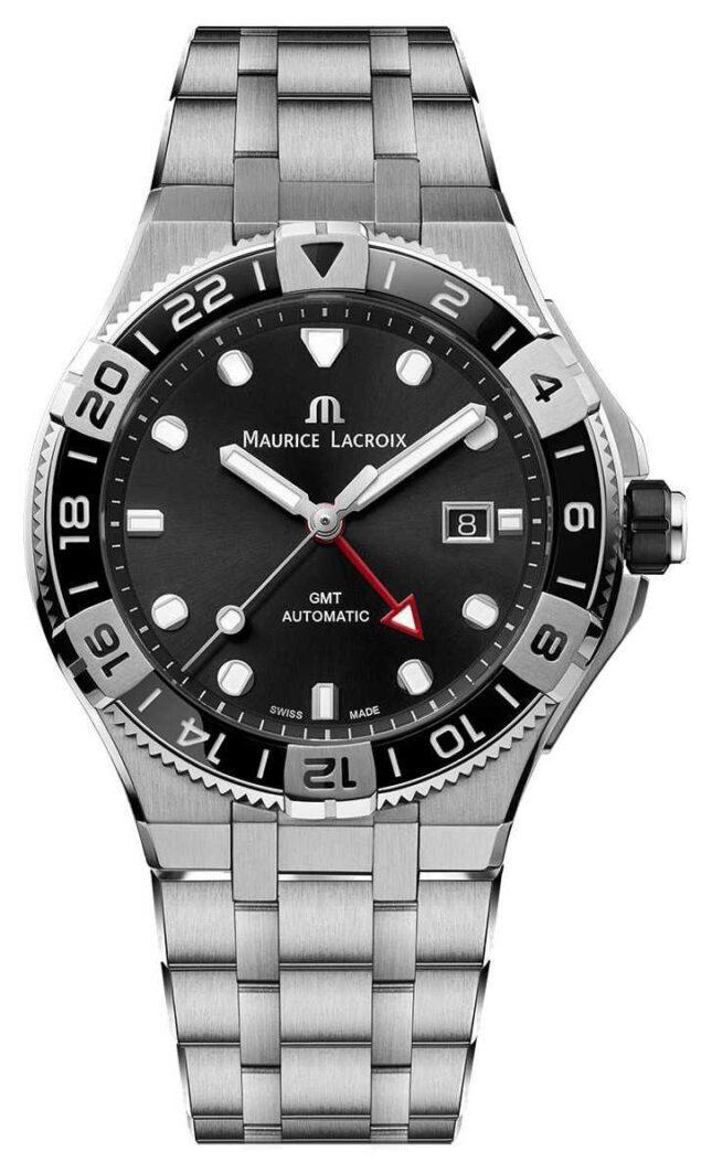 Maurice Lacroix Aikon Venturer GMT | Stainless Steel Bracelet | Black Dial AI6158-SS002-330-1