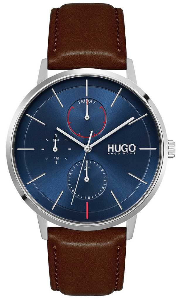 HUGO #Exist | Men's Brown Leather Strap | Blue Dial 1530201