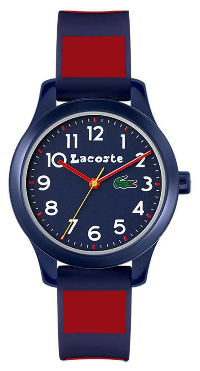 Lacoste Kids 12:12 | Blue & Red Silicone Strap | Blue Dial 2030035