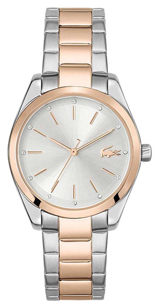 Lacoste Petite Parisienne   Two-Tone Steel Bracelet   Silver Dial 2001178