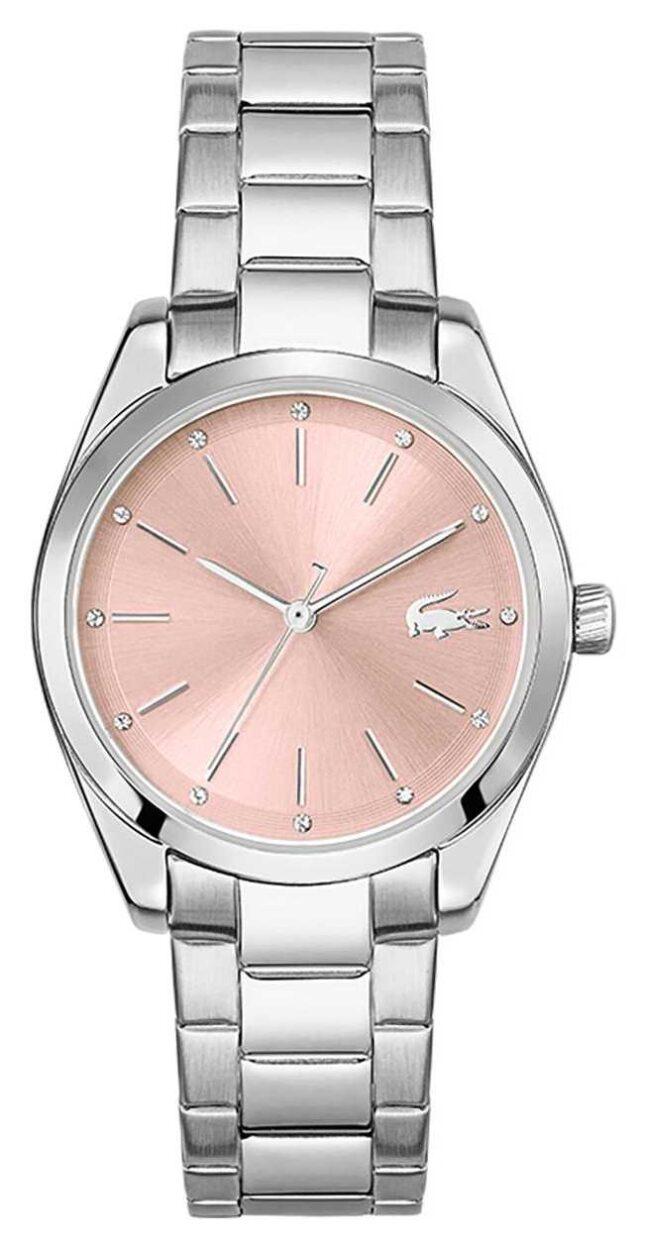 Lacoste Petite Parisienne | Women's Stainless Steel Bracelet | Pink Dial 2001176